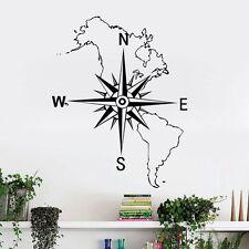 Kompass Nordamerika Wandtattoo Wallpaper Wand Schmuck 57 x 72cm