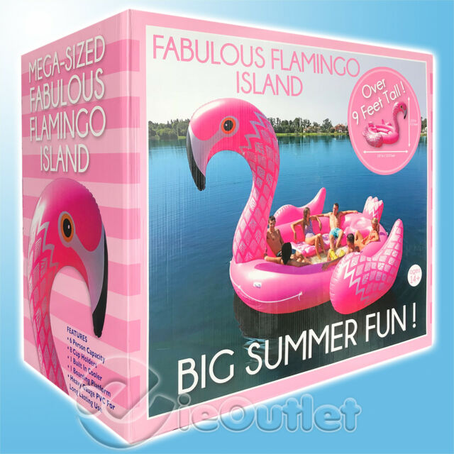 Intex Inflatable Mega Pink Flamingo Island Over 7 Ft In Size Summer Fun Pools & Spas
