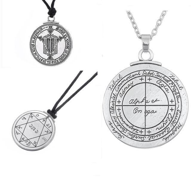 Sterling Silver 1st Pentacle of Mars Talisman Pendant Amulet Key of Solomon