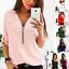 Fashion-Womens-Long-Sleeve-Loose-Blouse-Casual-Shirt-Summer-Chiffon-Tops-T-Shirt thumbnail 2