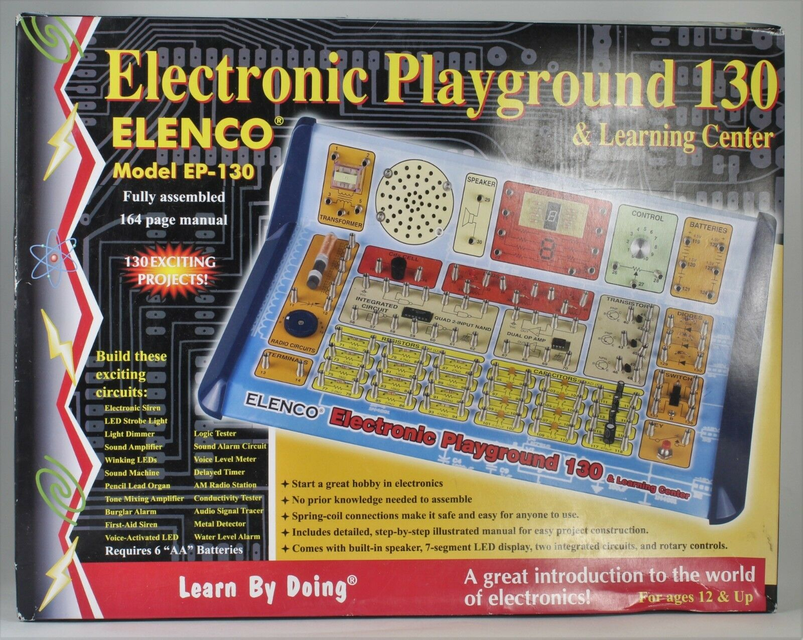 Elenco 130in1 Electronic Playground And Learning Center Ebay Circuits Simple In Addition Water Level Alarm Circuit On