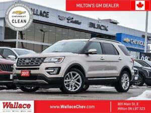 2017 Ford Explorer 4WD Limited, PANROOF, HEATED SEATS, BACK UP CAM