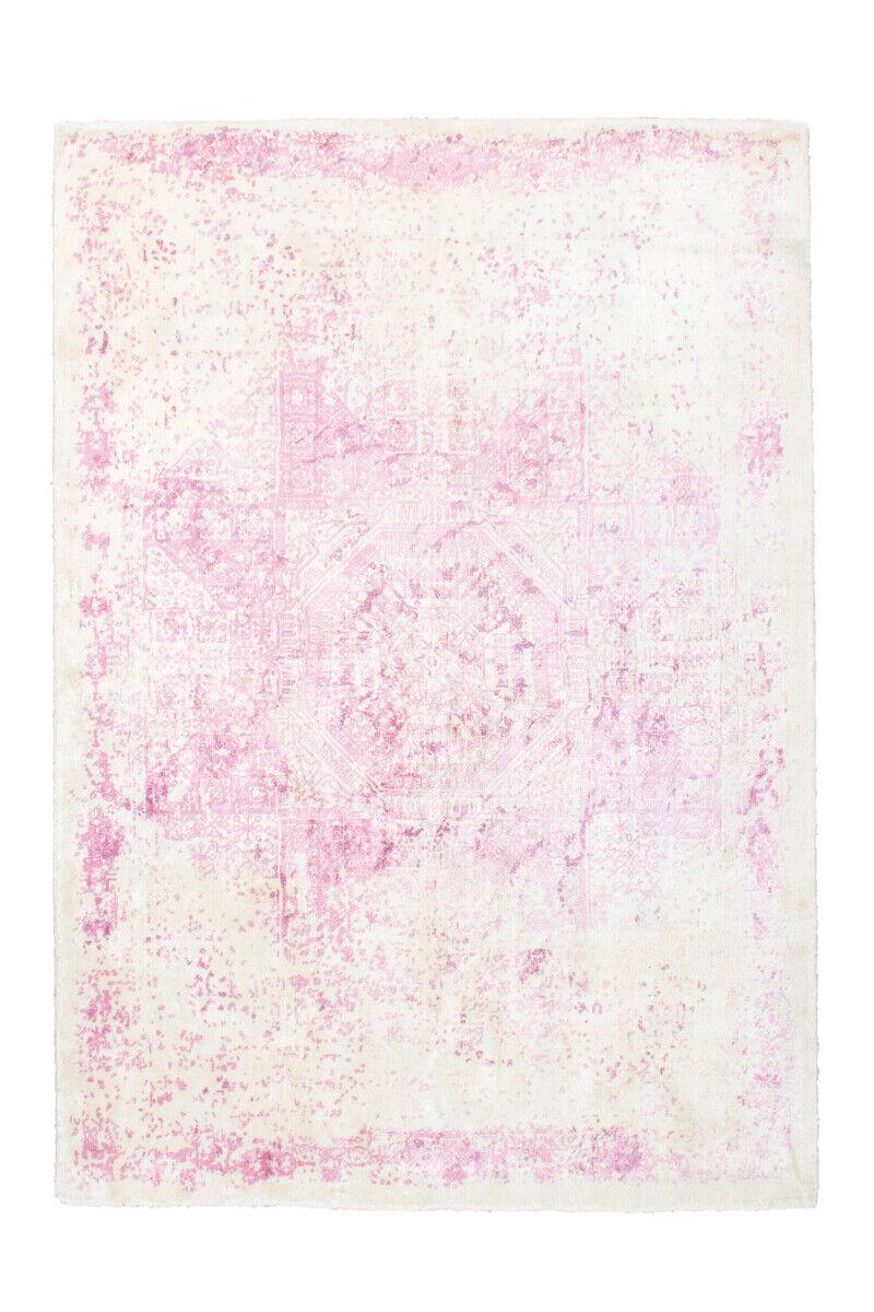 Shabby Look Tapis Modern Vintage Tapis Crème Rose Blanc Rose Violet 200x290cm