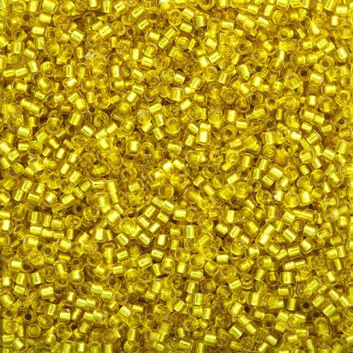 Miyuki Delica taille 10//0 Graines Perles Argent Doublé Jaune DBM0145 7.2 g K12//11