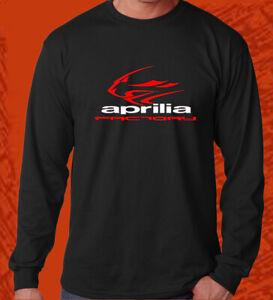 New Aprilia Logo factory Long Sleeve t shirt S 2XL black