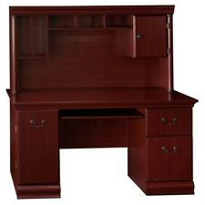 Bush Furniture Birmingham Executive Desk & Hutch in Harvest Cherry Finish New