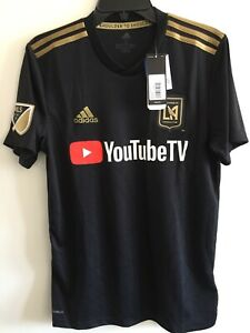 Details about Adidas LAFC Home Soccer Jersey Black And Gold Stadium Kit Size S Men's Only