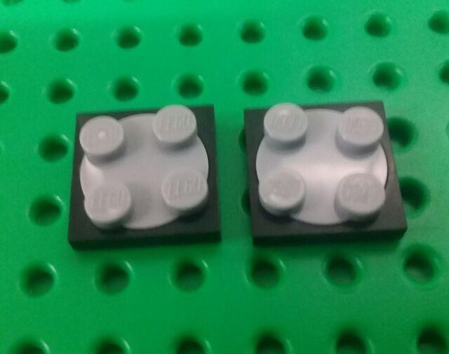 *NEW* Lego Black Turntables Swivel Round Black Base Grey Swivel- 2 pieces