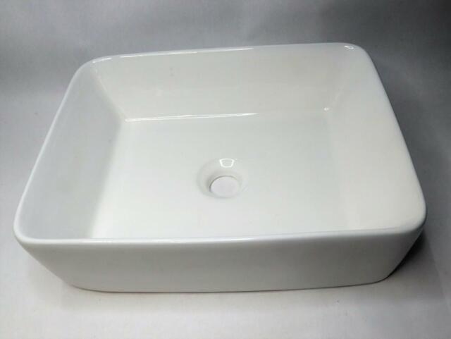 "Pelican 18/"" White Porcelain Undermount Bathroom Sink"