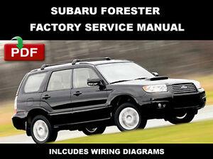 Subaru Forester 2003 2008 Service Repair Workshop Fsm Factory Manual