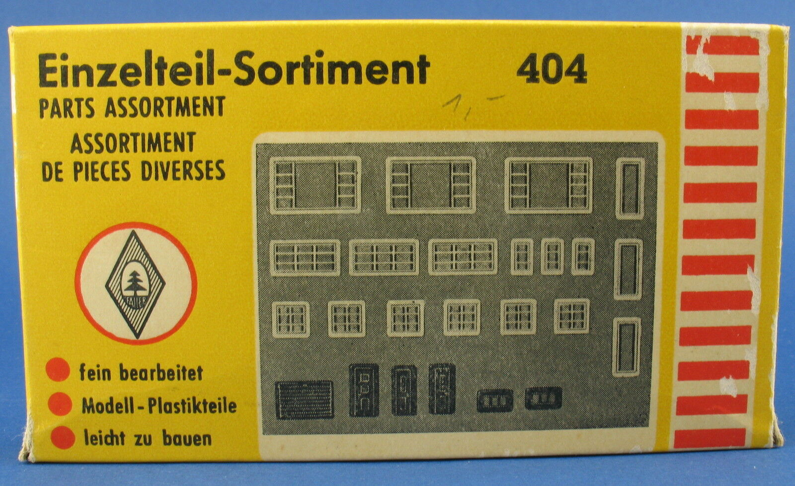 Faller 404-assortimento di pezzi singoli-finestre e porte-traccia h0-Ferrovie