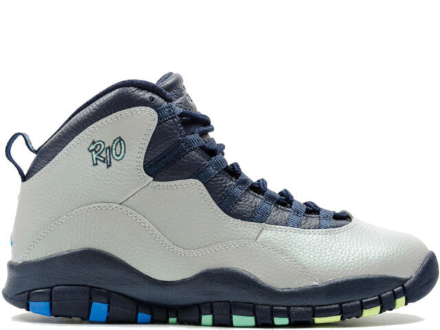 75040f4b4e7914 Air Jordan Retro 10 X 310805-019 Rio Brazil Wolf Grey Photo Blue DS ...