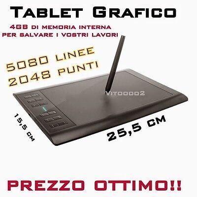 Tavoletta Grafica Digitale 5080 LPI 2048 Livelli Tablet Grafico Professionale