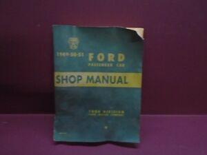 1949 1950 1951 FORD  PASSENGER CAR SHOP MANUAL