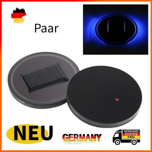 1Pair Smart Auto Solar Energy Cup Bottle Bottom Holder Pad LED Getränkehalter DE