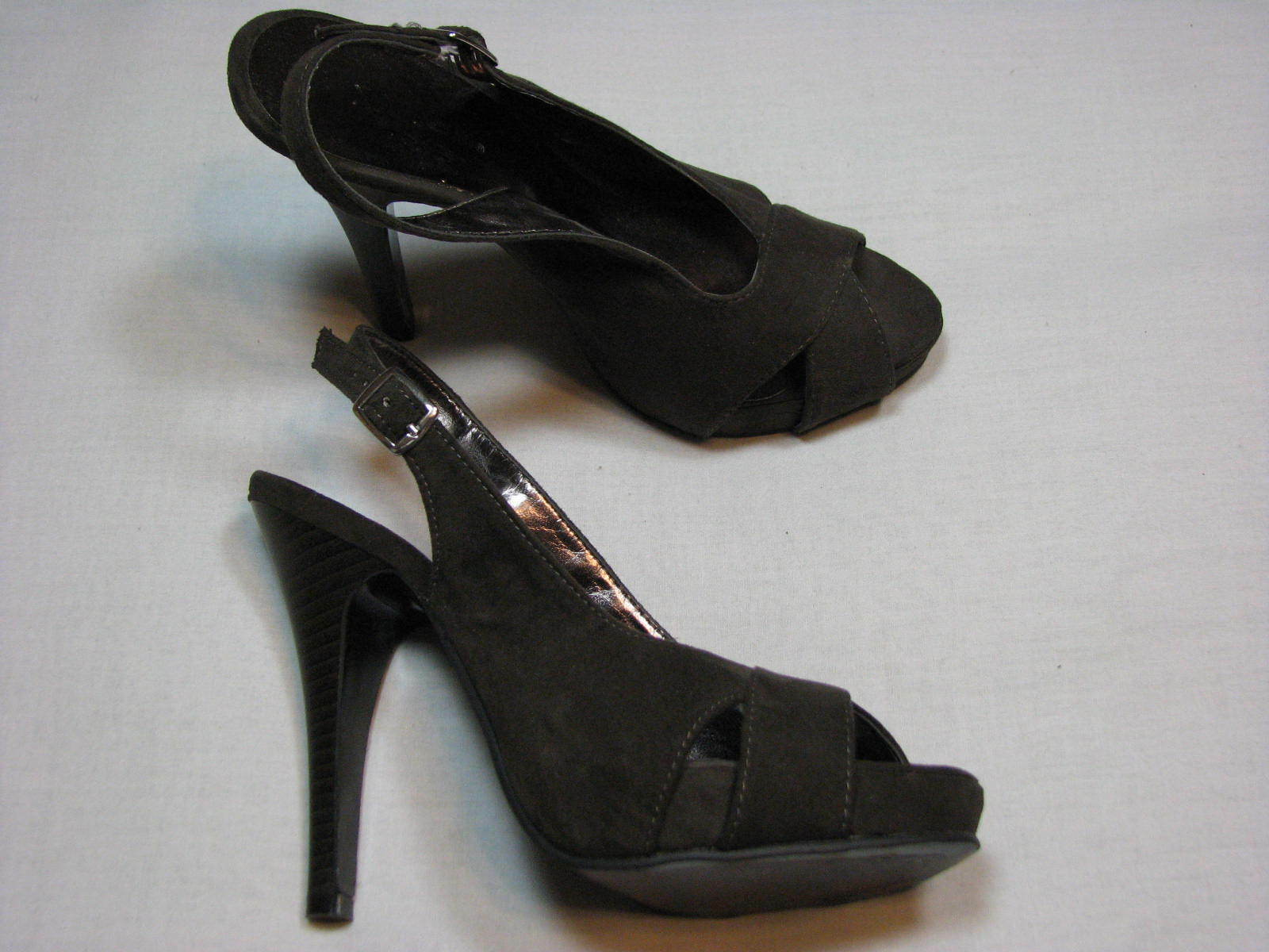 6 M Xappeal Gideon Faux Suede Leather Ladies High Women Heel Shoes 5