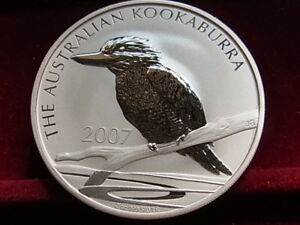 Australia-2007-2-oz-Silver-Kookaburra-2-BU-In-capsule