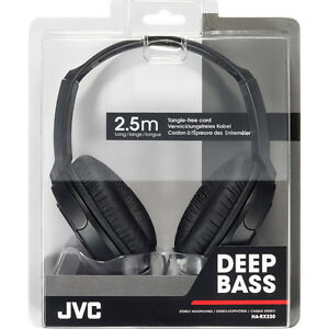 JVC-HA-RX330-Deep-Bass-Stereo-Headphones-2-5-m-8-2ft-Cord-Ideal-Home-Audio