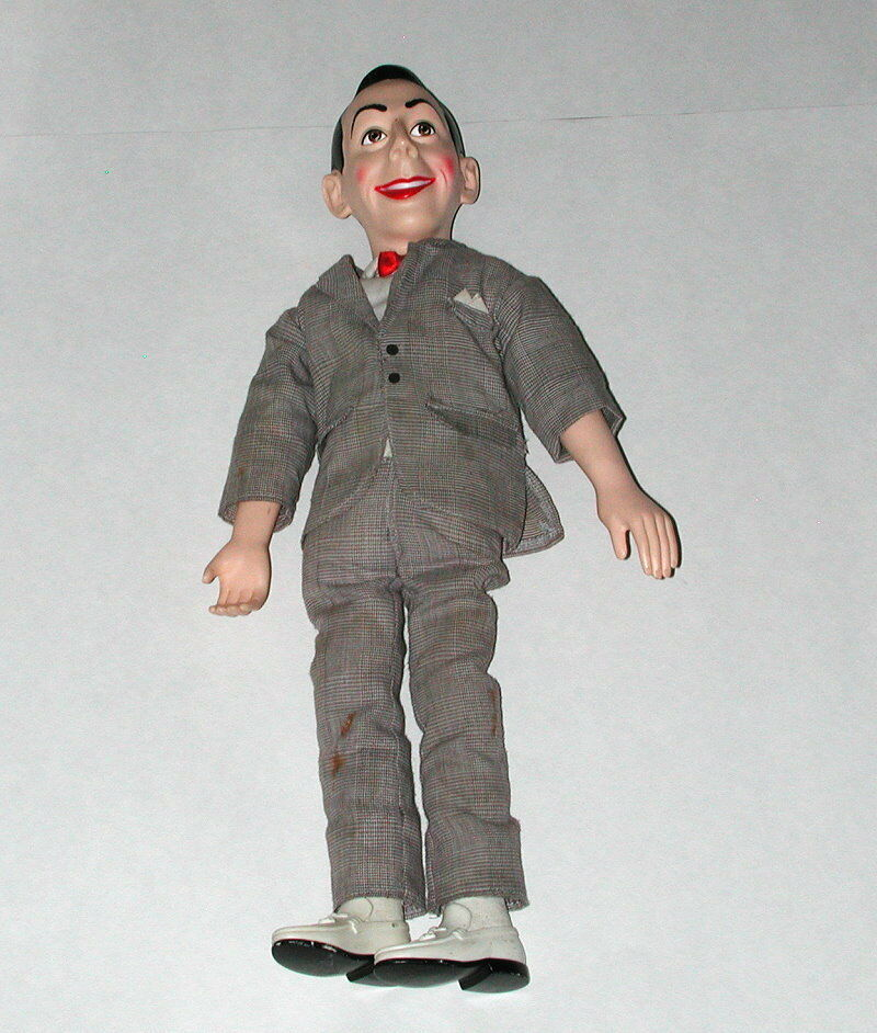 1987 MATCHBOX TALKING PEEWEE HERMAN DOLL WITH POSING ARMS AND LEGS