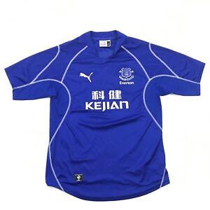 Puma-Everton-Club-de-Futbol-Replica-Camiseta-Talla-Grande-Azul-Seco-para-England