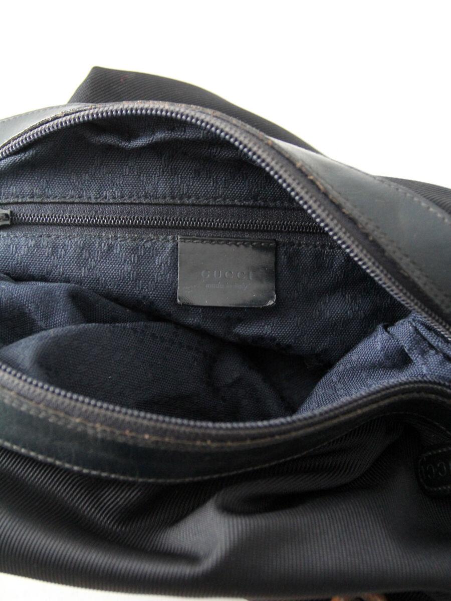 Gucci diana bag with bamboo handle, black nylon s… - image 11