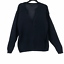 miniature 1 - J.Crew Womens size Small Navy Blue V Neck Loose Knit Boxy Pullover Sweater