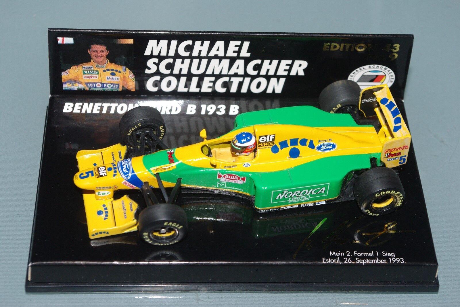 Minichamps F1 1 43 Benetton Ford B193B-Schumacher Estoril Portugal 1993 1993 1993 MSC 9 c6af1b