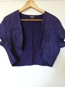 Phase-Eight-Bolero-Bolero-Bolero-Cardigan-camisa-purpura-superior-tamano-16