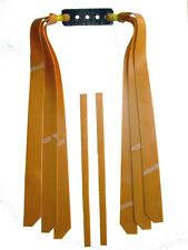 3 Fach Theraband Gold Flachbandgummi Länge 29cm / Für starke Schleuder, Zwille