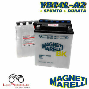Batteria Magneti Marelli Yb14l-a2 12v 14ah Gilera Nexus / E3 / Sp E3 500 2003