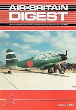 AIR-BRITAIN DIGEST #1 93: CANADA TRIP/ OSHKOSH 92/ BRIDEWELL MUSEUM/ 'TORA' FILM
