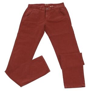 0508k Pantalone Uomo 9.2 Rust-colored Jeans Tessuto Operato Cotton Trouser Man