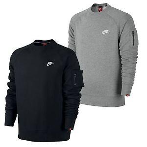 Nike-Men-039-s-AW77-Jumper-Sweatshirt-Top-Fleece-Black-Grey