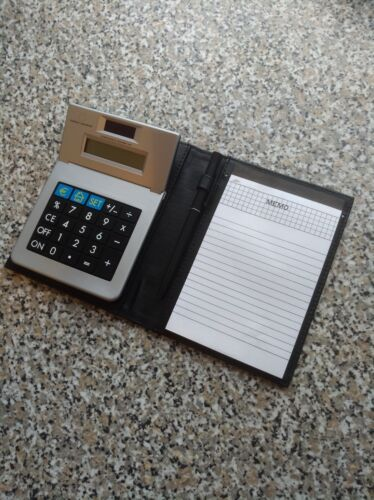 Solar-Währungsrechner Taschenrechner mit Memoblock und Kugelschreiber Schreibset
