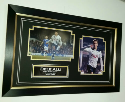 New Dele Alli of Tottenham Signed Photo Picture Autograph Display