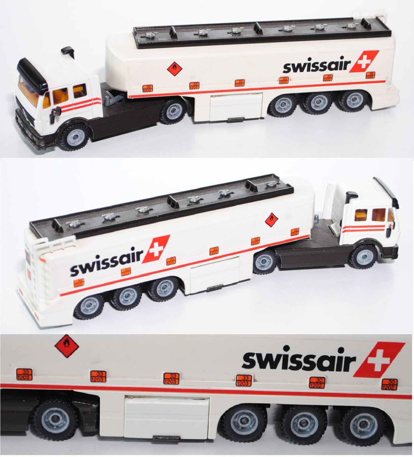 Siku Super 3511 03904 Mercedes SK Tankzug mit mit mit TOPAS-Aufbau, swissair ba6595