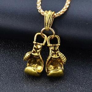 Couple Boxing Gloves Signature Chain Necklace Mini Pair Pendants Boxing W2C1