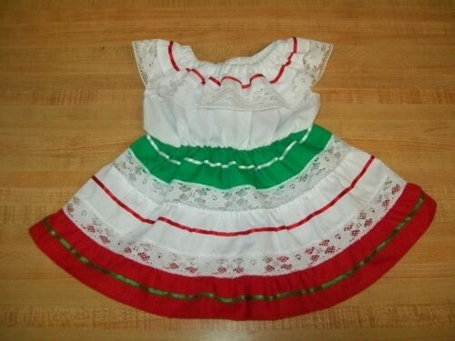 """TRADITIONAL MEXICAN FIESTA PARTY DRESS CINCO DE MAYO for 16/"""" CPK Cabbage Patch"""