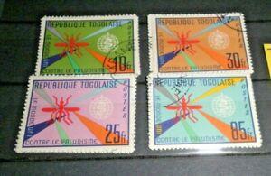 FRANCOBOLLI-TOGO-1962-LOTTO-MEDICINA-MALARIA-SERIE-TIMBRATA-USED-SET-CAT-6