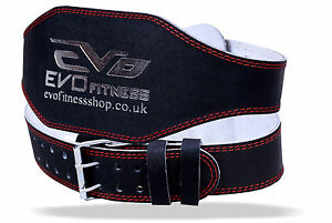 EVO-6-034-4-034-Pure-Leather-Gym-Belts-Weightlifting-Back-Support-Strap-Bodybuilding