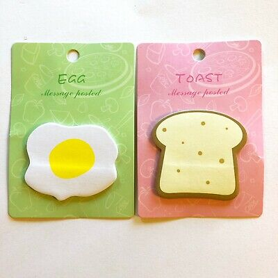 Breakfast Food Toast Egg Doughnut Shaped Cute Sticky Notes Novelty Sticky Notes