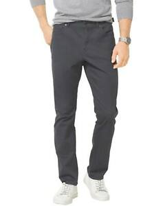 Michael-Kors-Slim-Fit-Smoke-Grey-Flat-Front-Stretch-Casual-Pants