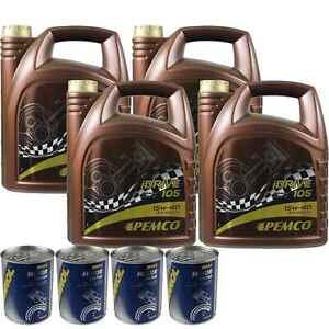 20l olio motore Pemco iDrive 105 15w-40 4x Motore Mannol Doctor additivo