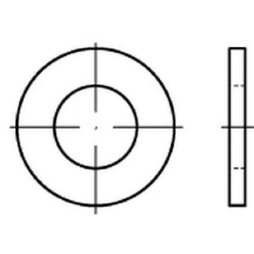 100 x CAB FASTENING Scheiben ohne Fase DIN 125 A 4 140 HV A 10,5 A 4