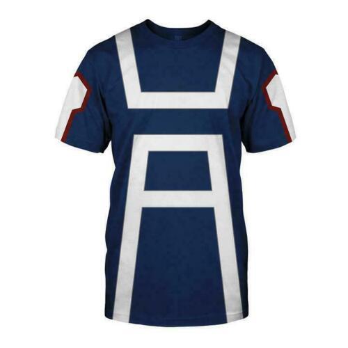 Men Women My Hero Academia T shirt Hoodie Pullover Sport Gym Costume Deku