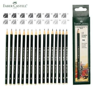 12Pcs-Faber-Castell-Art-Graphite-Pencils-Writing-Sketch-Charcoal-Artist-Drawing