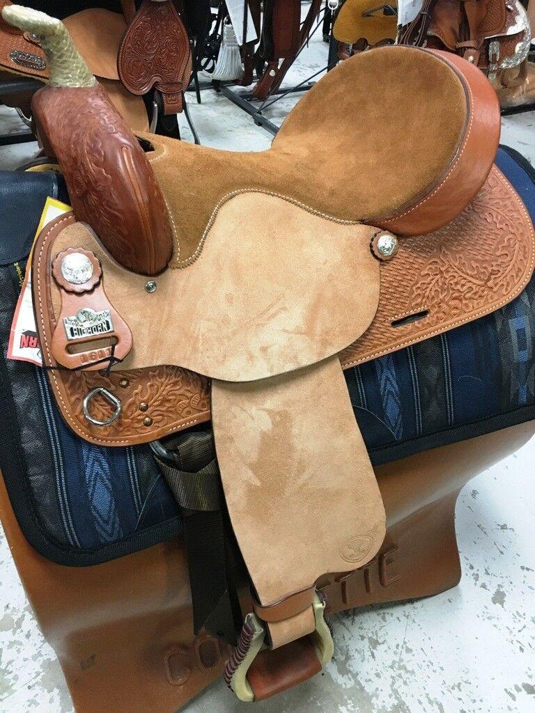 Big Horn 16  Barrel Racer Leather Saddle Full Quarter Horse Bars A01611  NEW