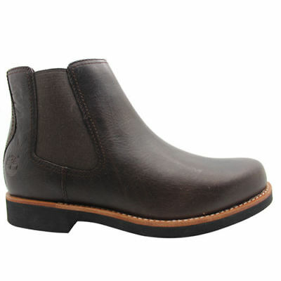 Details about New Mens Timberland Brown Stormbuck Chelsea Nubuck Boots Lace Up