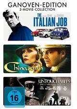 THE ITALIAN JOB + CHINATOWN + THE UNTOUCHABLES (3 DVDs) NEU+OVP