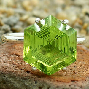 Colorchange-Alexandrite-Hexagon-Shape-925-Sterling-Silver-Ring-Jewelry-DGR1092-E